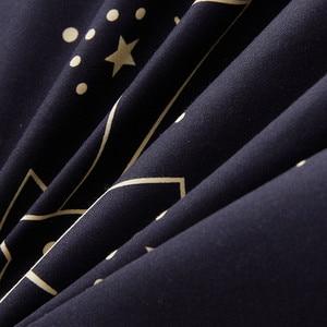 "Image 5 - מותאם אישית רך מצעים סטים ארה""ב רוסיה אירופה מלך מלכת גודל שמיכה כיסוי סט רך גיליון סט יחיד 200*200 מיטת פשתן שחור כוכב"