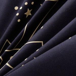 Image 5 - Custom Soft Bedding Sets USA Russia Europe King Queen Size Duvet Cover Set Soft Sheet Set Single 200*200 bed linen Black Star
