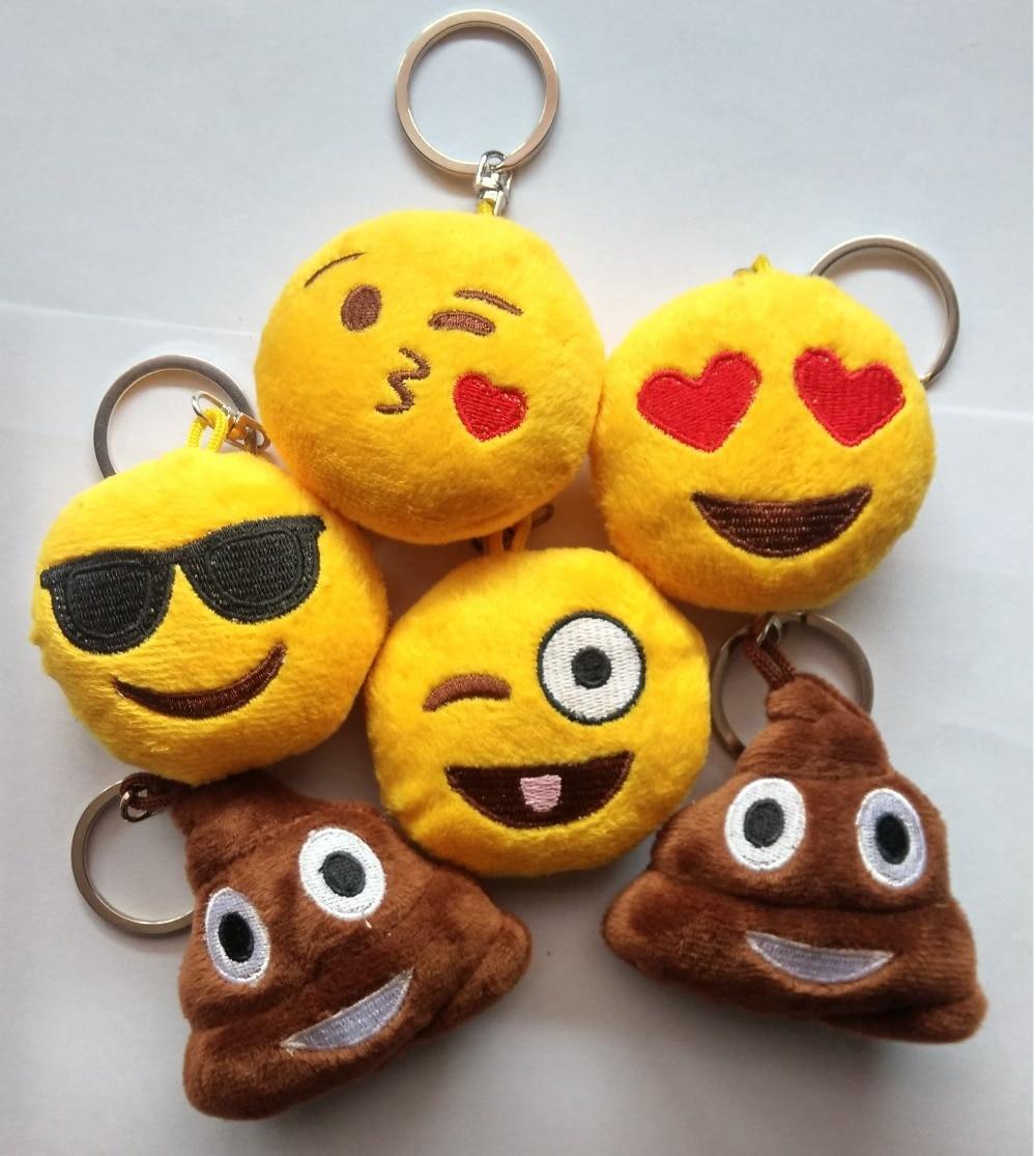 Hot Selling Unique Design 6 Style Cute Phone Emoji Keychain Emoticon