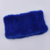 Women fashion fur Scarf Mink knit scarves Warm fur headband Womens Real Mink Muffler Ladies Natural Mink Fur elasticity Scarf