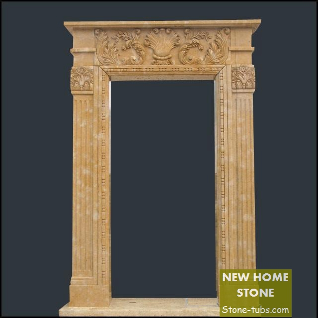 Stone Door Frame Design Contemporary Look Modern Style Simple Shape Garden  Door Frame Hand Carved Marble