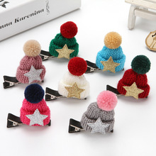 1PCS Colorful and High Quality Christmas Decorations Lovely hat hair pin Five colors available