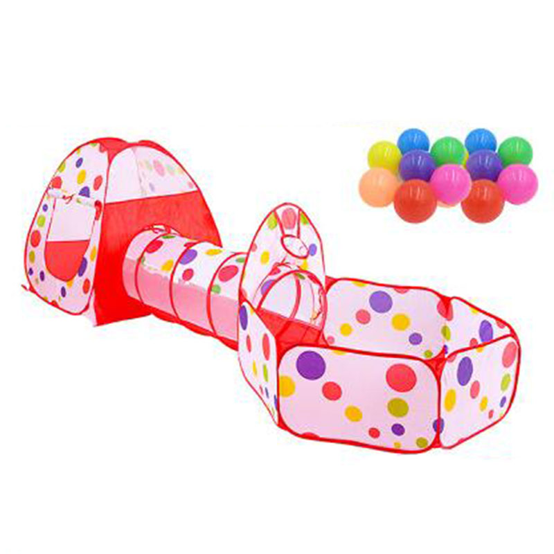 Child tent indoor baby toy outdoor game house baby crawling tube ocean ball pool