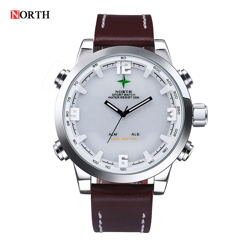 Reloj Hombre 2016 Man Clock Male Military Original North Sports digital Watch For Men LED Analog Date Alarm Back Light Display цена и фото