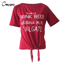 """Time to drink beer and dance on the tailgate"" women's shirt / girlie"