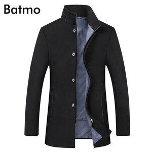 Image 5 - BATMO 2019 yeni varış kış yüksek kaliteli yün kalın trençkot erkekler, erkek gri yün ceketler, artı boyutu M 6XL, 1818