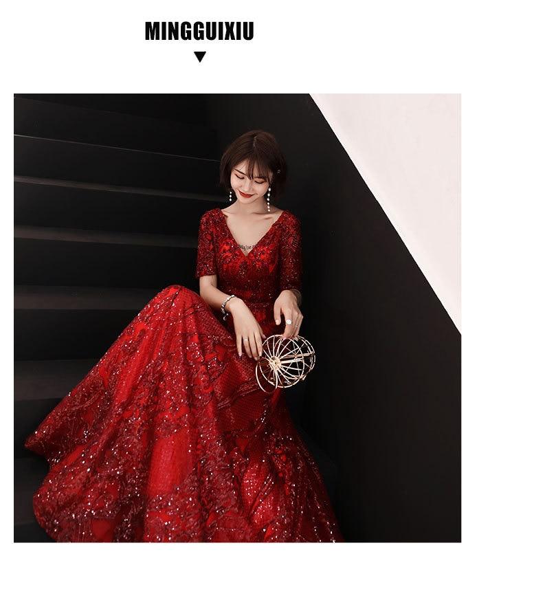 Elegant V Robe D'été Demi Acheter Mode Manches Femmes Soirée De gy7fYb6v