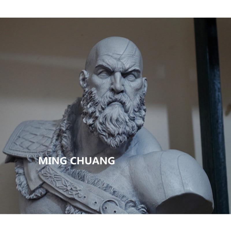 God Of War արձան Kratos 1: 3 Ghost Of Sparta Bust Son Zeus - Խաղային արձանիկներ - Լուսանկար 6
