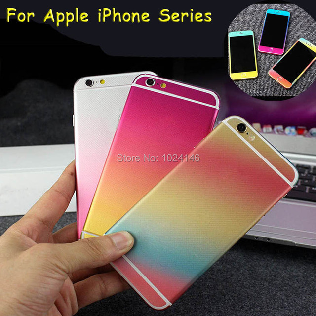 For apple iphone 6 6s plus 7 plus foil full body ombre gradient color decal