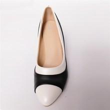 ZJVI woman fashion pointed toe Thin high heels pumps 2018 women black white mixed colors summer autumn shoes womens work Pumps