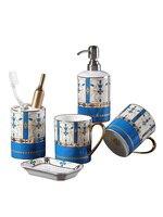Креативный позолоченный Классический Caramic набор для мытья унитаза для ванной комнаты набор из пяти предметов чашка + держатель для зубных щ