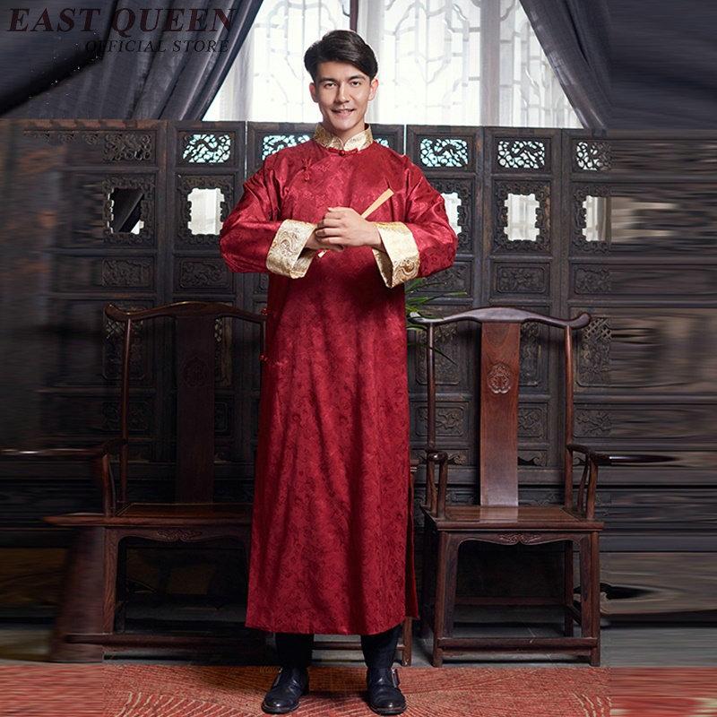 Traditional chinese clothing for men cheongsam Chinese wedding robe male chinese dress men KK2334