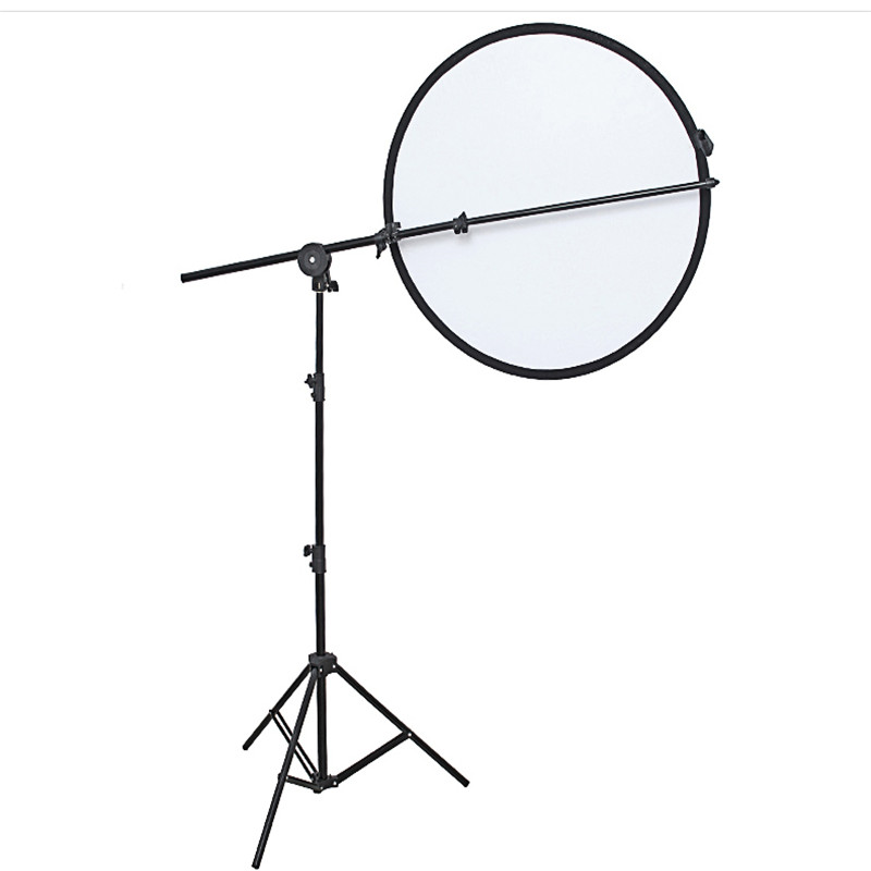 Photo Studio Reflector Holder Bracket Swivel Head Collapsible Reflector Disc Arm Support Aluminium 66 170cm With