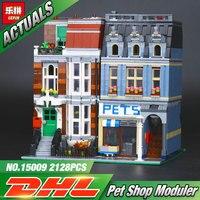 15009 2082pcs City Street Creator Pet Shop Supermarket Model LEPIN Building Block Toy Minifigure Compatible Legoed