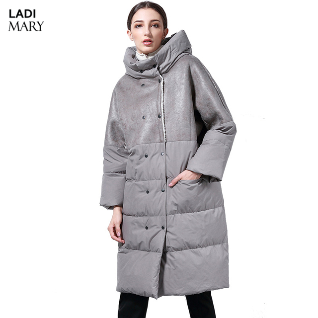 cc0eb4978 LADIMARY High Quality Women's Hooded X-Long Down Puffer Coat Winter Full  Length Down Parkas Women's Winter Jacket LM360074