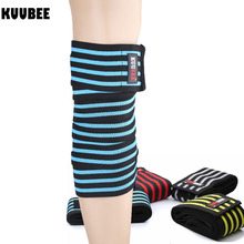 d3b90bba2b Knee Bandages Weight Lifting Squats Training Elbow Leg Pressurized Calf  Support Straps Elastic Knee Wraps(
