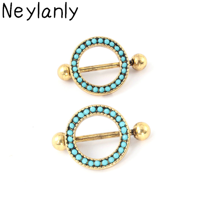 12PCS Gold Color Trendy Nipple Piercing For Women Sexy Barbell