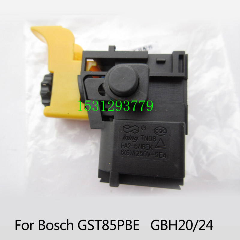 Free shipping!  Electric hammer Drill Speed Control Switch for Bosch GBH20/24 GST85PBE ,Power Tool Accessories free shipping original electric hammer drill speed control switch for bosch tsb1300 gsb500re power tool accessories