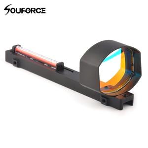 High Quality 1x40 Optics Red Fiber Dot Sight Scope for Shotguns Rib Rail Base Mount Hunting Shooting