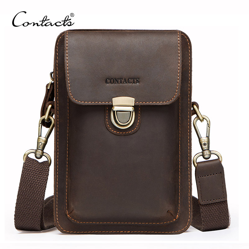 ae1c9aed55114 Men Waist Pack Genuine Leather Vintage Travel Cell Phone Bag men s fanny  pack Shoulder Bag with. Mouse over to zoom in