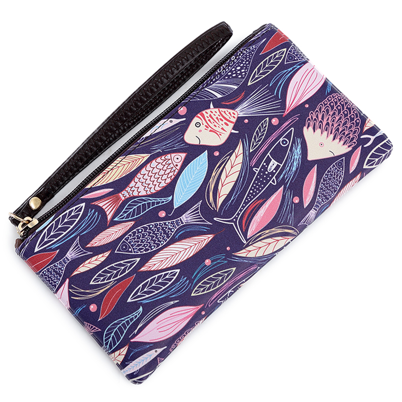New Fashion Art Phone Wallet Female Makeup Bag Wristlet Luxury Brand Famous Designer Wallet Women Purse Money Bag Women Wallets new fashion luxury brand women wallets owl leather wallet female cartoon coin purse wallet women animal wristlet money bag small