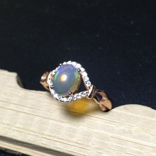 KJJEAXCMY fine jewelry Natural opal lady ring 925 pure silver inlaid with fire and color super beautiful lady kjjeaxcmy fine jewelry natural opal lady ring 925 pure silver inlaid with fire and color super beautiful lady