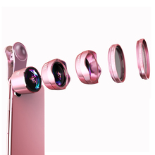 5pcs a set phone lens mobile camera external photography kit 0.6X undistorted wide angle 15X macro fisheye starlens CPL fish eye meike mk h6s pro 3in1 bluetooth phone lens kit fish eye wide angle macro for6 6s photographic kit compatible with sony ilce qx1