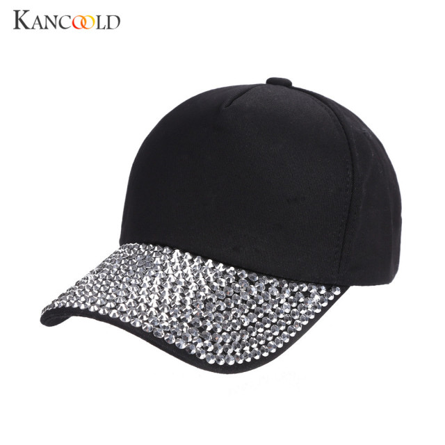 Caps a feminine caps adjustable hat female womens winter hats with  rhinestones hip hop dad hat d84724fafc2c