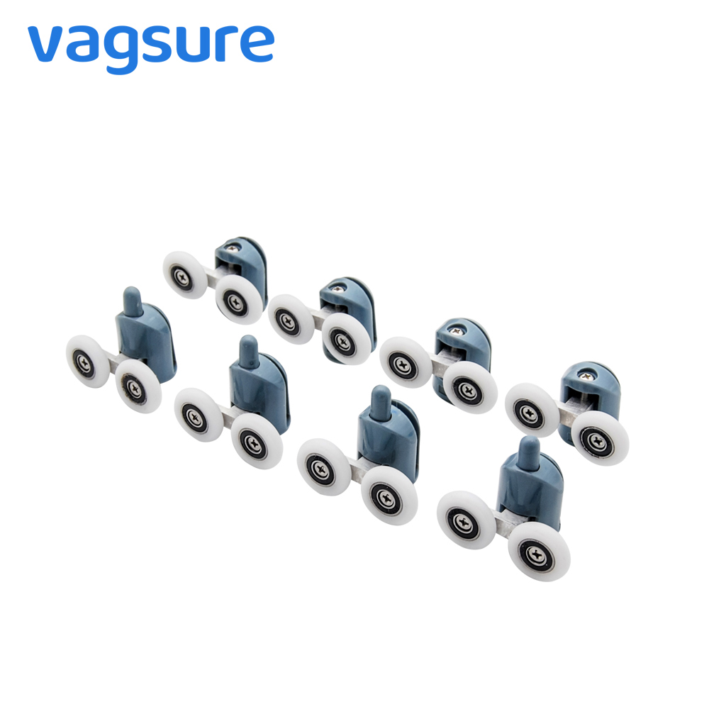 Vagsure 4pcs-8pcs/set 23mm/25mm Double Pop Up Wheels Sliding Shower Door Rollers Runners Pulleys Screw Cover Cap Cabin RoomVagsure 4pcs-8pcs/set 23mm/25mm Double Pop Up Wheels Sliding Shower Door Rollers Runners Pulleys Screw Cover Cap Cabin Room