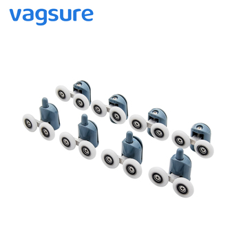 Vagsure 4pcs-8pcs/set 23mm/25mm Double Pop Up Wheels Sliding Shower Door Rollers Runners Pulleys Screw Cover Cap Cabin Room 4pcs 8pcs set diameter 23mm 25mm abs plastic adjustable double swinging pulley wheel shower cabin sliding door hardware roller