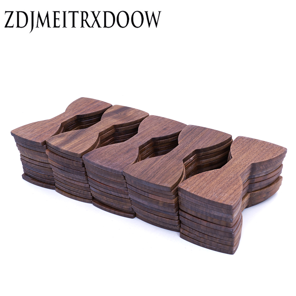 Semi-manufacture 100 PCS Wooden Bow Tie Adults Size 12cm*5.5cm