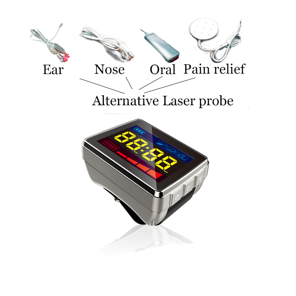 China manufacture Physical Natural Ways to Lower High Blood Pressure Remedies Red Light Laser Therapy Acupuncture Laser Machine cozing lllt laser therapy semiconductor acupuncture watch therapy high blood pressure fat sugar blood clean acupuncture laser