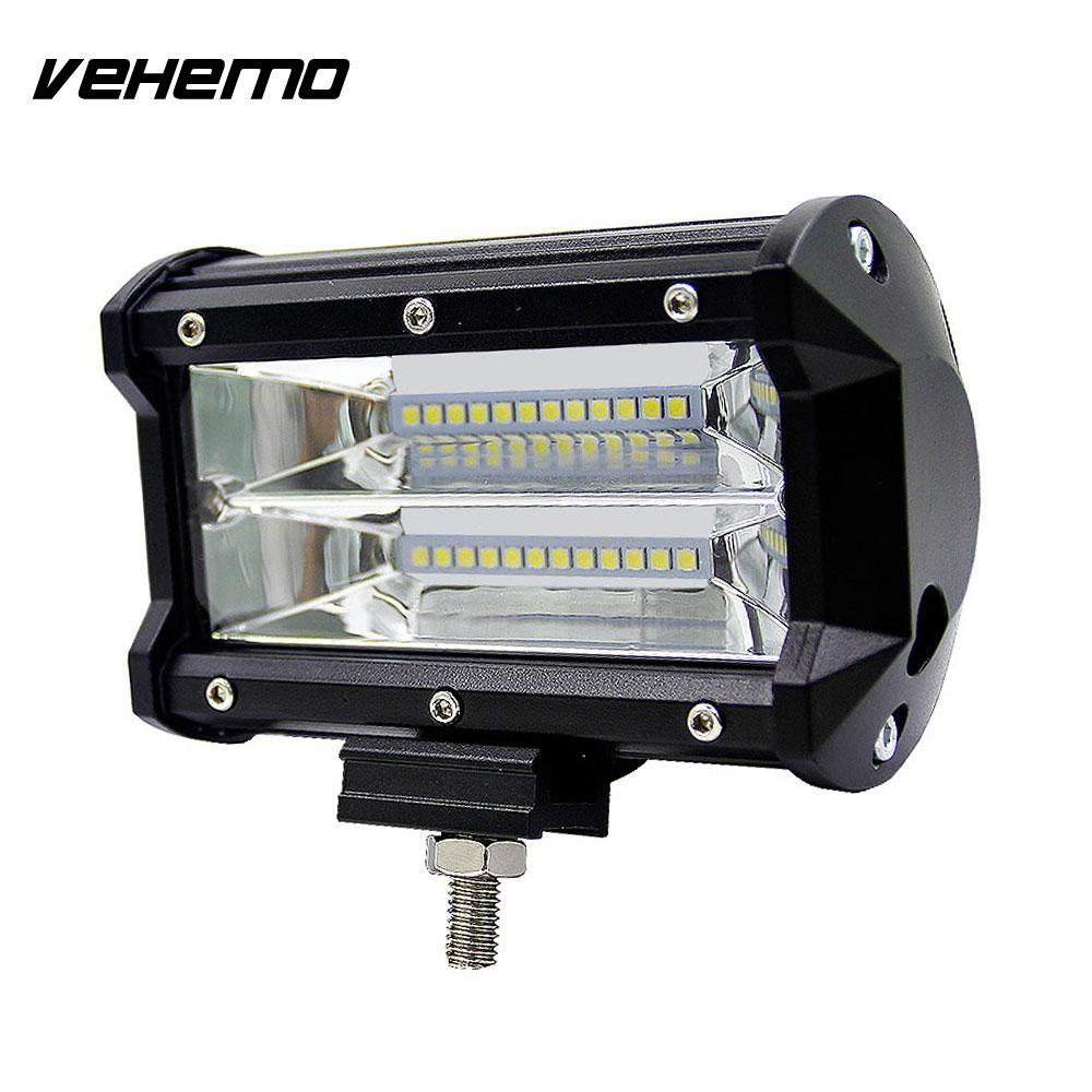Vehemo 5 Inches 72W LED Spotlight Worklight Driving Light Roof Lamp Car Offroad car led spotlight cree automotive short animated film spotlights roof lighting roof lamp dc10 40v