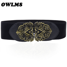 New Elastic Black Cummerbunds for Women Luxury Brand Designe