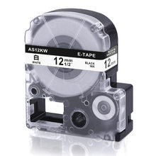 Oozmas SS12KW Label Tape Kompatibel untuk Epson Labelworks Label Maker Tape Cassette LK-4WBN Hitam Di Putih 12 Mm(China)