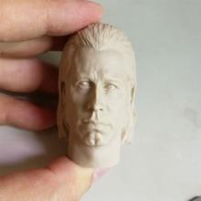 1/6 John Travolta Unpainted Head for 12'' Bodies Action Figures