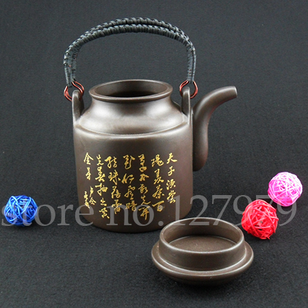 Yixing Clay teapot bucket handle purple clay pot 700ml purple clay ore 14*10.5cm teaset kettle for puer oolong Onsale