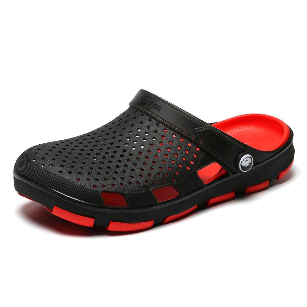 b62cc86acd57 2019 Summer New Men s Beach Breathable Slippers TPU Garden Mule Clogs Shoes  For Men Male Sandals
