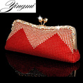 Women Clutch Bags Beaded Evening Bags Pearl Diamonds Golden Handbags Wedding Bridesmaids Bridal Party Feast Bag With Chains