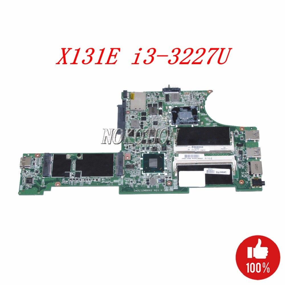 NOKOTION 04X0701 DA0LI2MB8H0 Laptop Motherboard For Lenovo Thinkpad X131E 13.3 inch I3-3227U CPU DDR3 Main board worksNOKOTION 04X0701 DA0LI2MB8H0 Laptop Motherboard For Lenovo Thinkpad X131E 13.3 inch I3-3227U CPU DDR3 Main board works