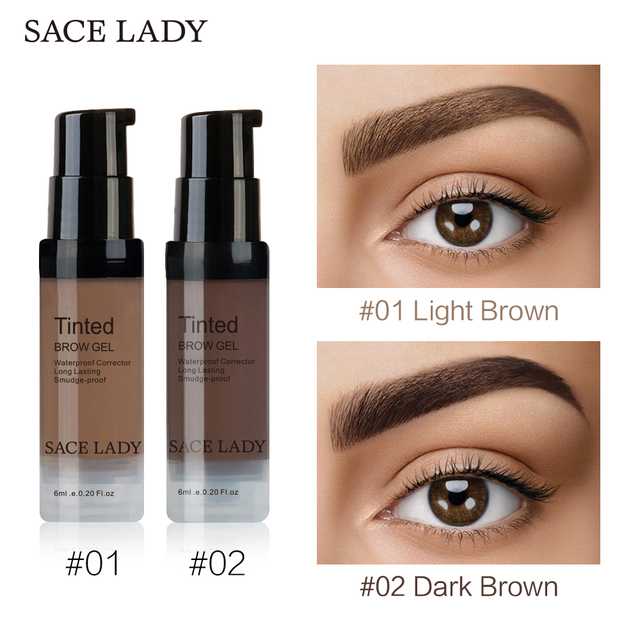 SACE LADY Henna Eyebrow Dye Gel Waterproof Makeup Shadow For Eye Brow Wax Long Lasting Tint Shade Make Up Paint Pomade Cosmetic 3