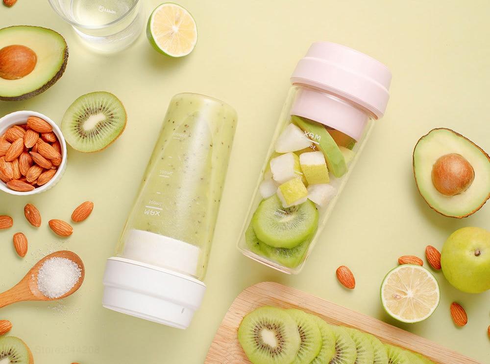 Xiaomi 17PIN Star Fruit Cup mini Portable blender Juicer mixer food processor 400ML Magnetic charging 30 Seconds Of Quick Juice