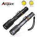 Anjoet наборы супер яркий тактический фонарь Портативный XML T6 / L2 светодиодный масштабируемый фонарь 18650 аккумулятор 5 режимов для охоты на откр...