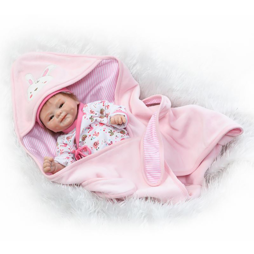 42cm Soft Silicone Reborn Baby Like Real Doll Toys Newborn Girl Babies Doll Lifelike Lovely Birthday Gift Play House Bedtime Toy цена