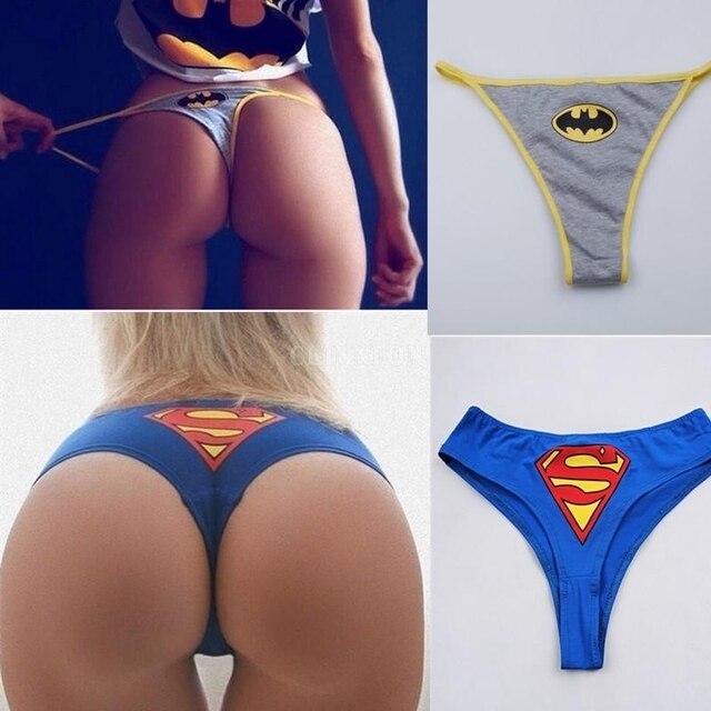 111483cc878 DHL 50PCS Women Sexy Panties BATMAN Briefs Bikini Knickers Superhero  Lingerie Underwear Thongs G-string
