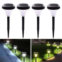 Solar Ground Lights Outdoor Garden Pathway Landscape Driveway Lawn Lamp Underground Lighting Bright Waterproof light