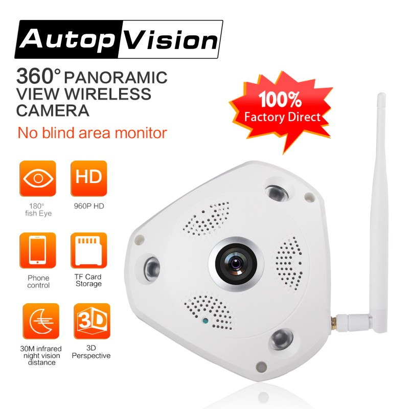 360 Degree VR Panorama Camera CCTV HD 960P Wireless WIFI IP Camera Home Security Video Surveillance System Camera Webcam newest 360 degree panorama vr camera hd