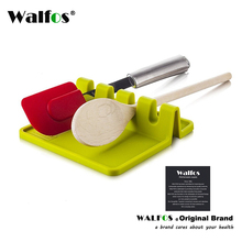 Kitchen Cooking Tools Silicone Spoon Rest Utensil Spatula Holder Heat Resistant