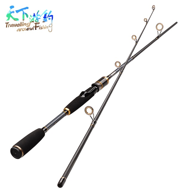 Travelling 1.8m/2.1m/2.4m 2 Section Spinning Fishing Rod 99% Carbon M Power Casting Canne Carp Pole River Sea Fly Fishing Tackle