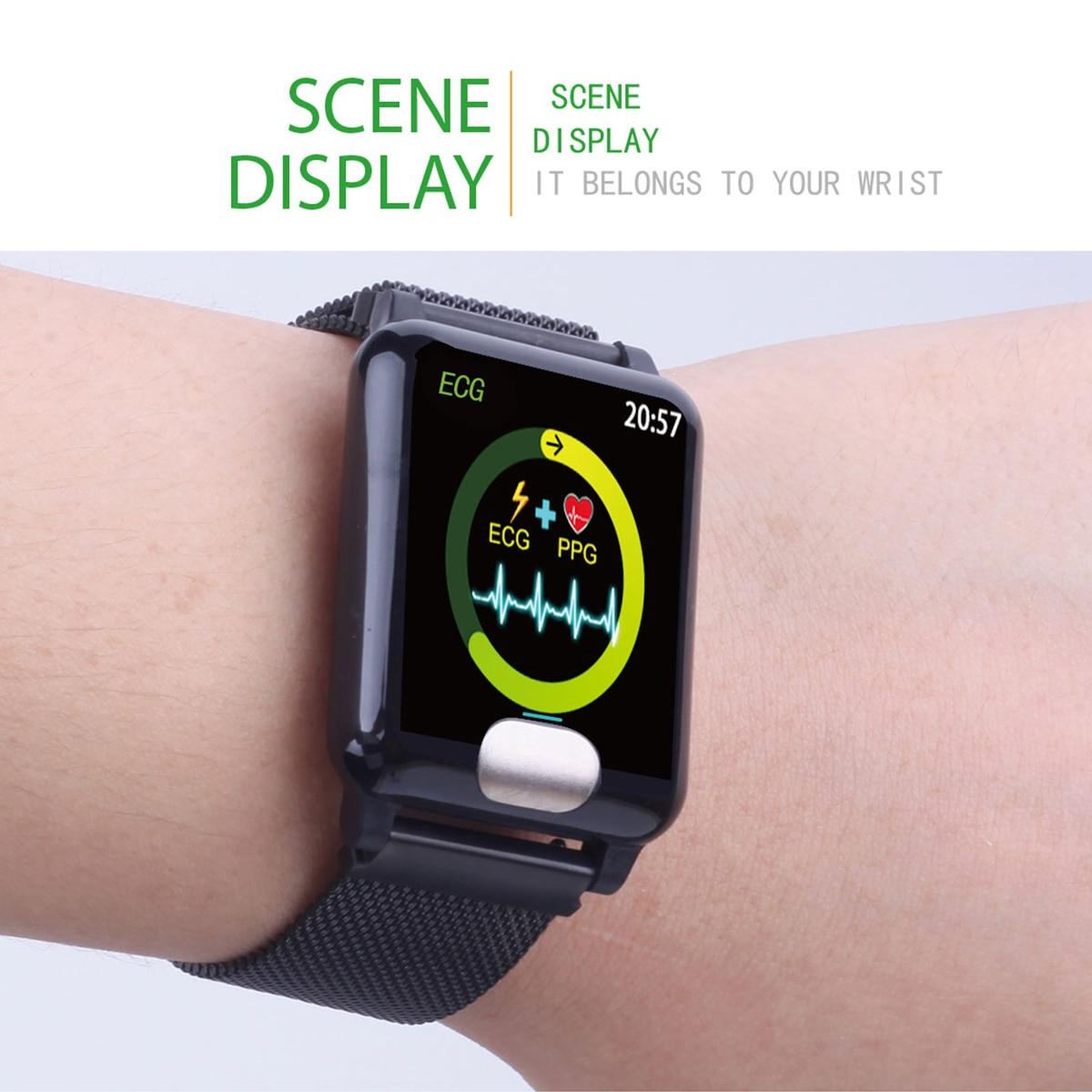 Image 4 - XGODY E04 ECG + PPG умный Браслет монитор сердечного ритма фитнес трекер Смарт браслет кровяное давление браслеты для наручных часов для IOS Android-in Смарт-браслеты from Бытовая электроника